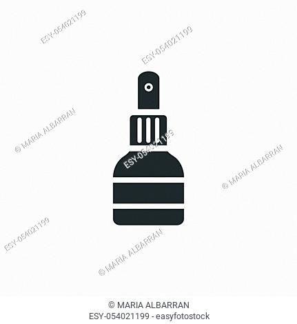 Antiseptic spray icon. Pharmacy open symbol. Isolated vector illustration
