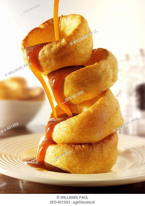 Yorkshire puddings with gravy, UK