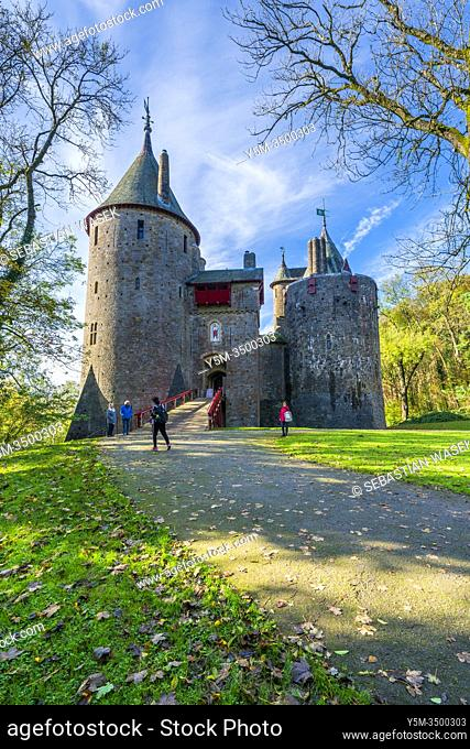 Castell Coch, The Red Castle, Tongwynlais, district of Cardiff, Wales, United Kingdom, Europe