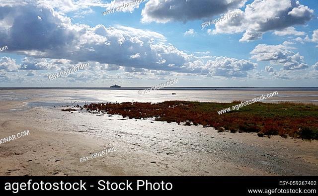 Strand; Roemoe; Daenemark; Faehre, Sylt