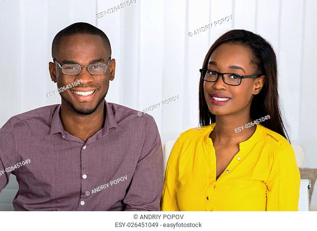 Portrait Of A Young Happy African Couple