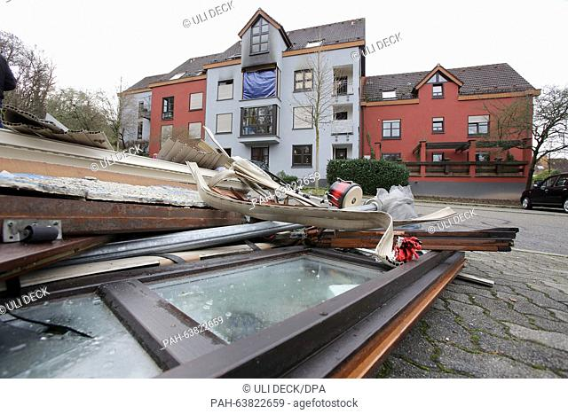 Several bodies have been found after a flash fire in this residential building in Karlsruhe, Germany, 21 November 2015. The incident occurred on the previous...