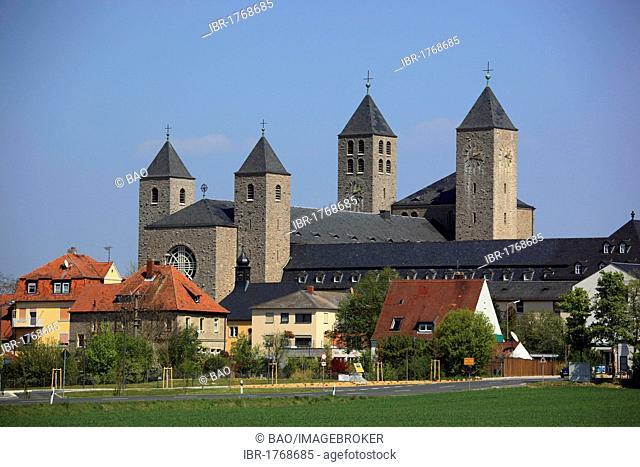 Muensterschwarzach Benedictine Abbey in Schwarzach, district of Kitzingen, Lower Franconia, Bavaria, Germany, Europe