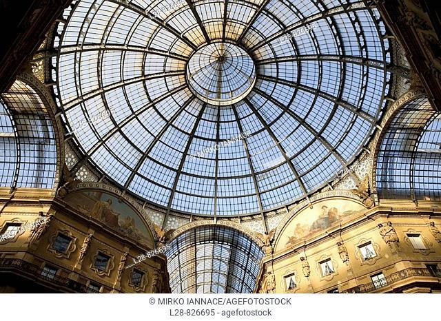 Italy, Lombardy, Milan, Galleria Vittorio Emanuele