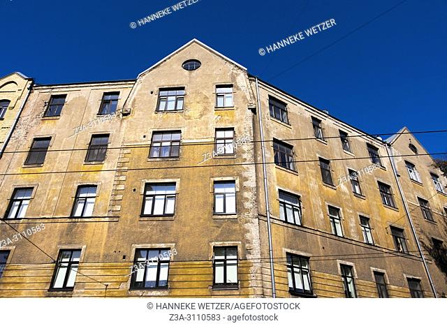 Traditional houses in Riga, Latvia, Europe