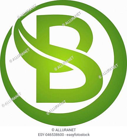 Letter B Leaf