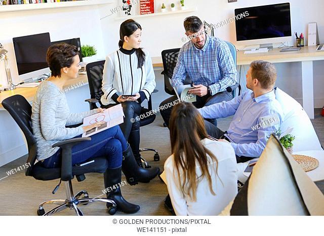 Executive meeting. Advertising agency