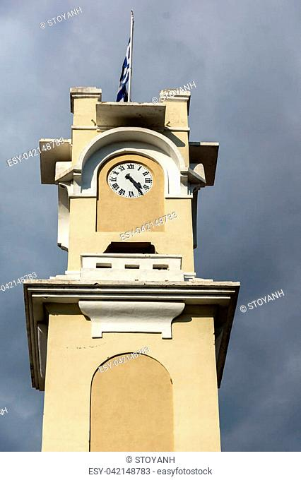 Clock tower in old town of Xanthi, East Macedonia and Thrace, Greece