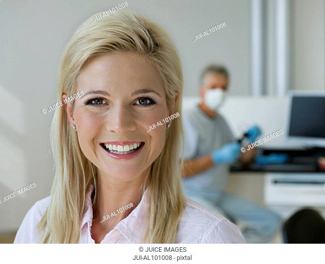 Hygienist in dentist's office