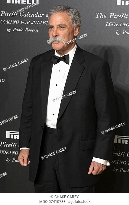 American company manager Chase Carey during the presentation of the Pirelli 2020 Calendar at the Verona Philharmonic Theater