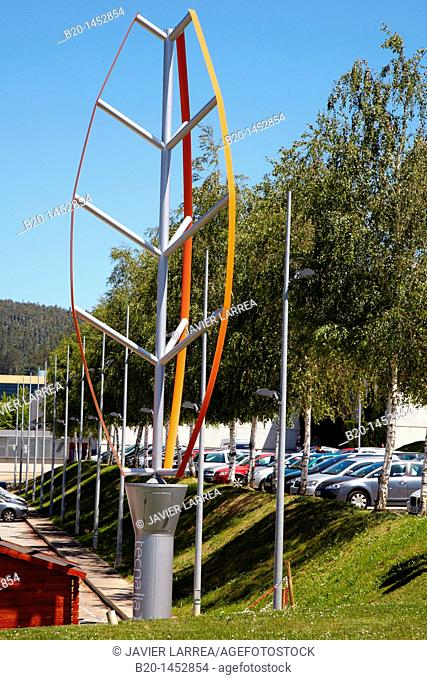 Wind turbine prototipe, renewable energy studies, wind power, Tecnalia Research & Innovation, Zamudio, Bizkaia, Euskadi, Spain