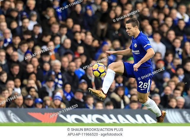 2017 EPL Premier League Football Chelsea v Stoke City Dec 30th. 30th December 2017, Stamford Bridge, London, England; EPL Premier League football