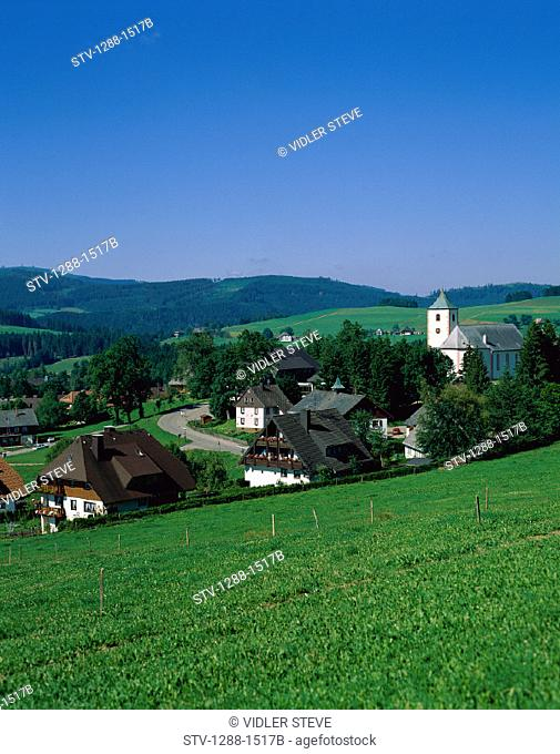 Black forest, Country, Countryside, Germany, Europe, Grassy, Green, Hills, Holiday, Landmark, Region, Tourism, Travel, Vacation
