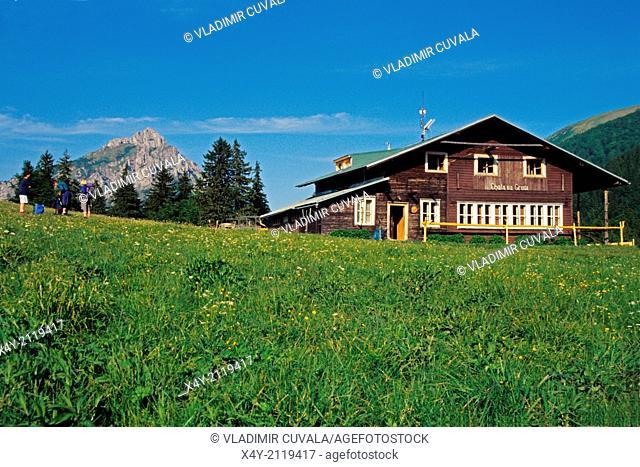 Mountain refuge Chata na Gruni, NP Mala Fatra, Slovakia