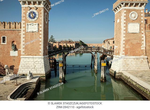 The Arsenal of Venice in the sestier of Castello, Venice, Italy