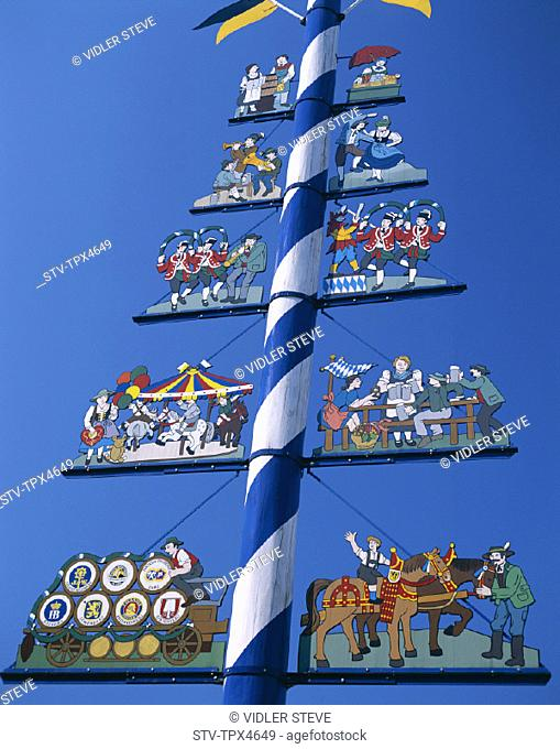 Bavaria, Germany, Europe, Holiday, Landmark, Maypole, Munich, The, Tourism, Travel, Vacation, Viktualienmarkt
