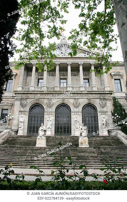 Facade of National Library of Spain