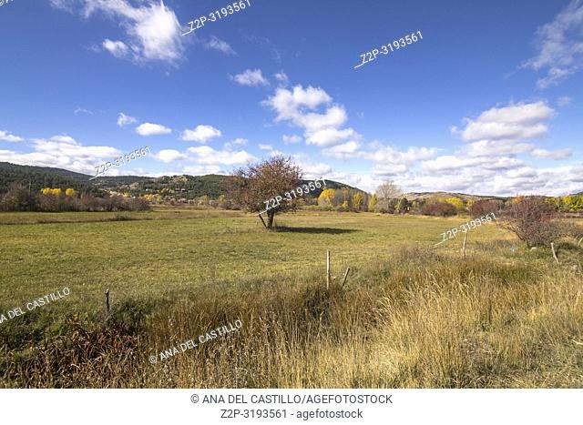 Autumn country Alcala de la Selva Teruel Aragon Spain