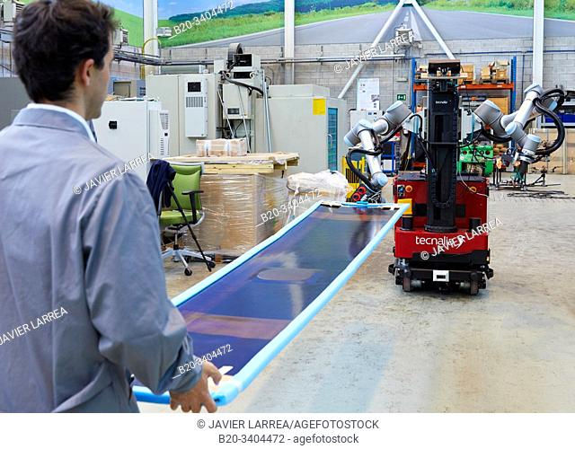 Use of flexible robotics in industrial manufacturing processes, Mobile robot, Advanced manufacturing Unit, Technology Centre, Tecnalia Research & Innovation