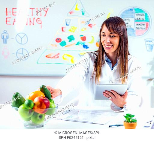 Portrait of a nutritionist