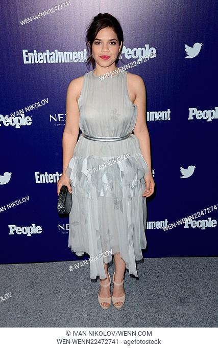 Entertainment Weekly And PEOPLE Celebrate The New York Upfronts - Arrivals Featuring: America Ferrera Where: New York City, New York