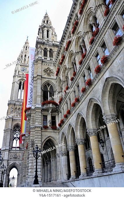 New town hall in Vienna, Neues Rathaus, Austria, Europe