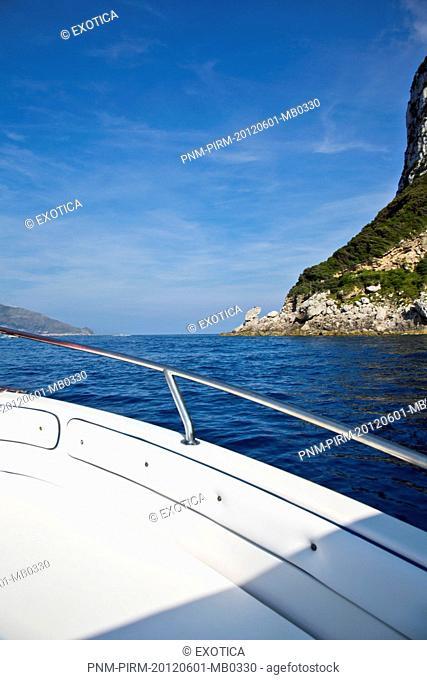 Boat in the sea, Capri, Campania, Italy