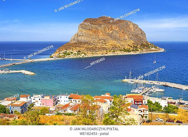 View on Monemvasia, Peloponnese, Greece