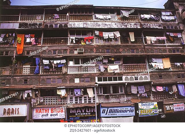Old housing complex (Chawl), Mumbai, India