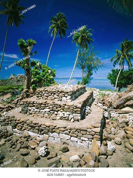 Marae Nuurua. Moorea Island. French Polynesia