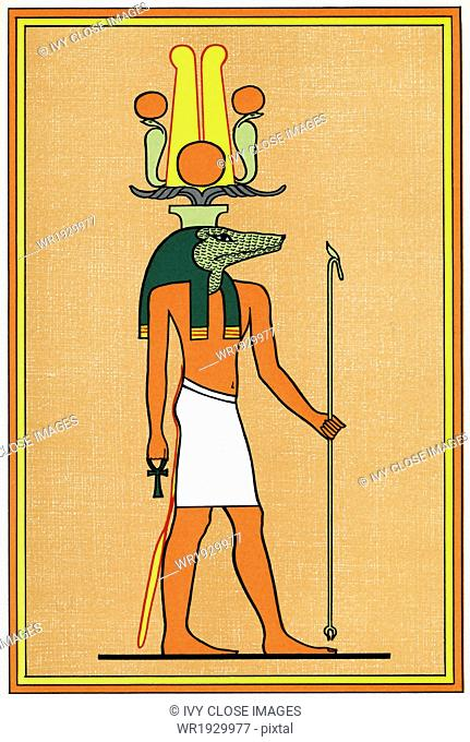 The ancient Egyptian god Sebek (also spelled Suchos and Sobk) was a crodocile deity and the ancient city god of Crocodilipolis in the Faiyum