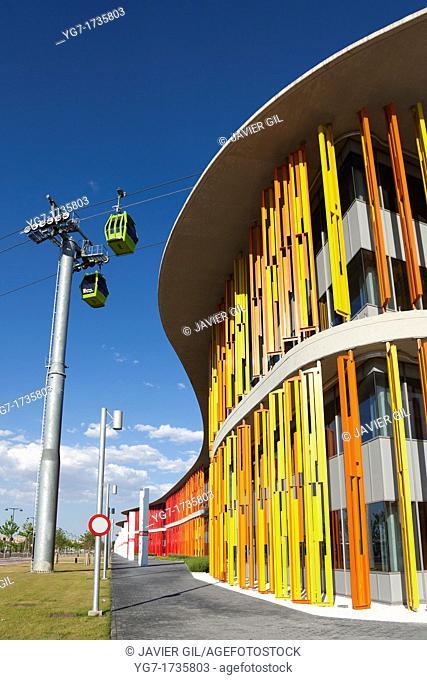 Building of Expo 2008, Zaragoza, Aragon, Spain