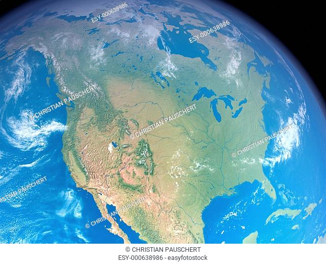 Nordamerika aus dem Weltall