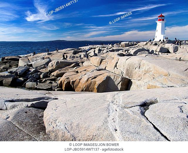 The lighthouse at Peggy's Cove in Nova Scotia