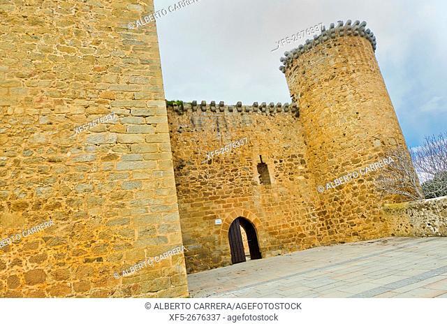 Valdecorneja Castle, 12th-14th century, Barco de Ã. vila, Ã. vila, Castilla y León, Spain, Europe