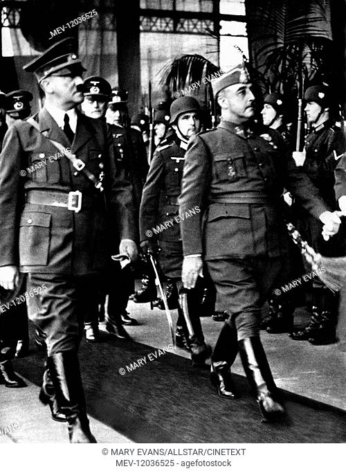 Adolf Hitler, Francisco Franco Nazi Leader & Spanish Dictator 01 May 1942