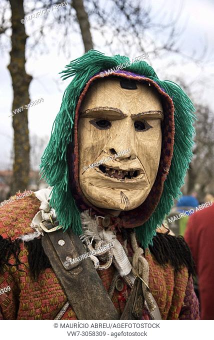 Wooden masks from Vila Boa used during the Winter Solstice Festivities. Trás-os-Montes, Portugal