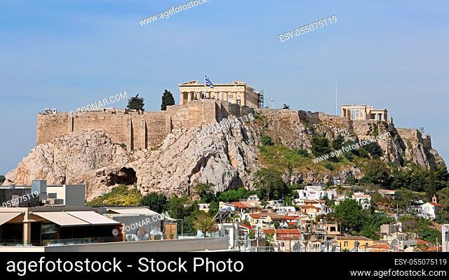 Ancient Ruins of Acropolis Parthenon in Athens Greece