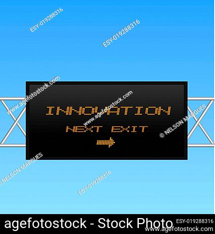 Concept image of an electronic billboard sign pointing to