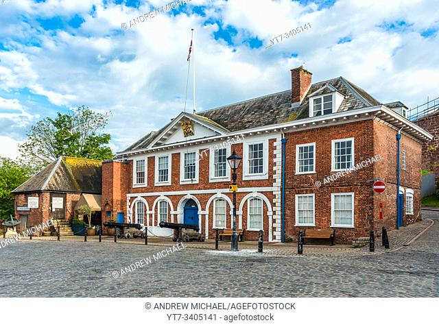 The Custom House on The Quay on the bank of the River Exe in Exeter, Devon, England, UK