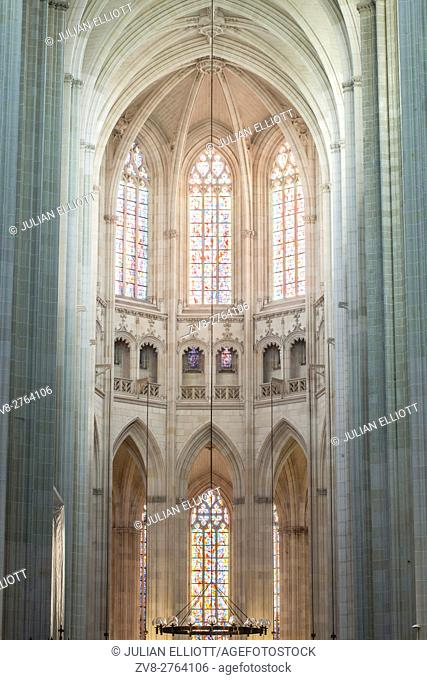 The cathedral of Saint Paul and Saint Peter or Cathedrale Saint-Pierre-et-Saint-Paul de Nantes in the city of Nantes
