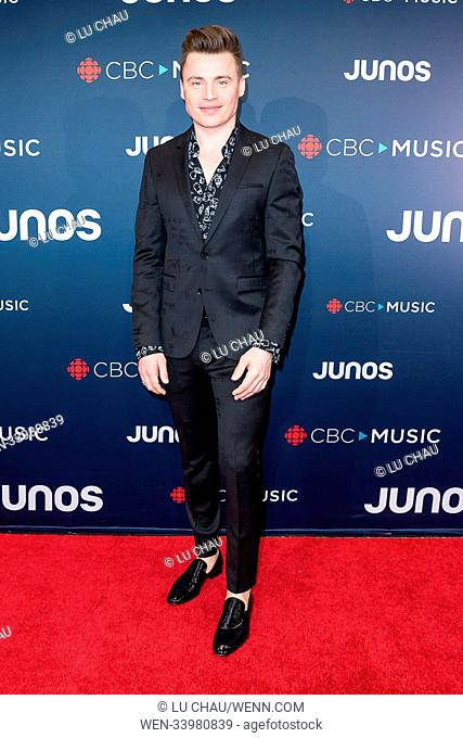2018 JUNO Awards, held at the Rogers Arena in Vancouver, Canada. Featuring: Shawn Hook Where: Vancouver, British Columbia
