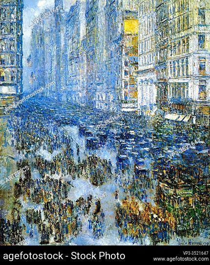 Frederick Childe Hassam - Fifth Avenue Winter 1919