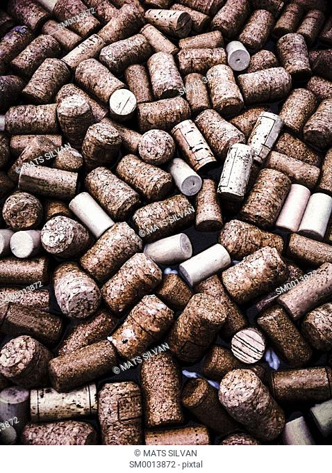Wine Corks Floating On Water