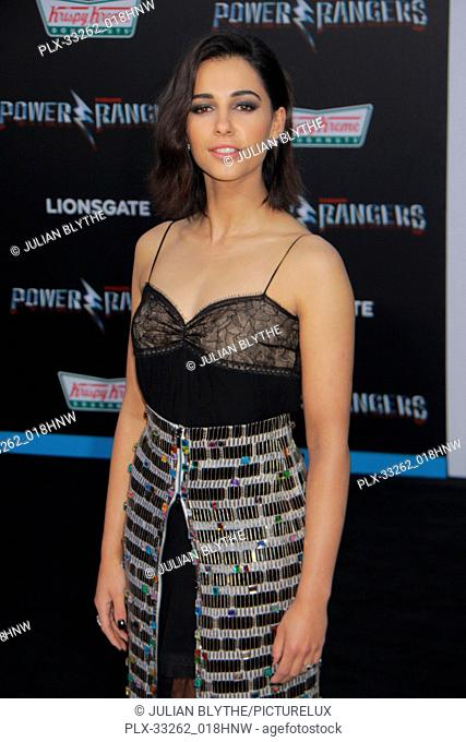 """Naomi Scott 03/22/2017 """"""""Power Rangers"""""""" Premiere held at the Westwood Village Theater in Westwood, CA Photo by Julian Blythe / HNW / PictureLux"""
