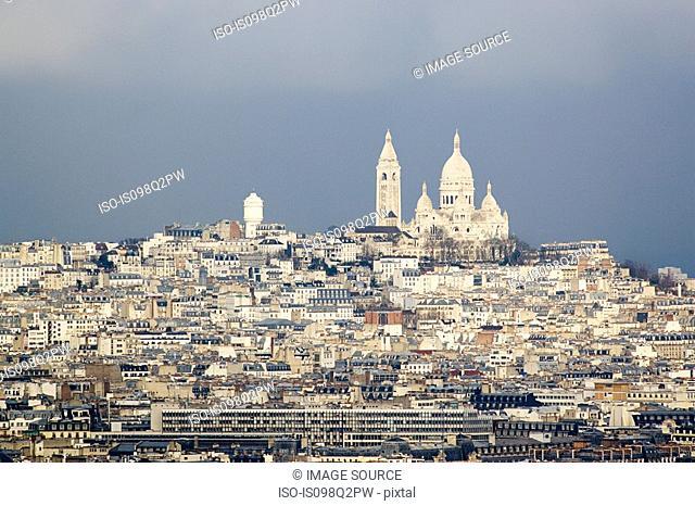 Montmartre and sacre coeur paris