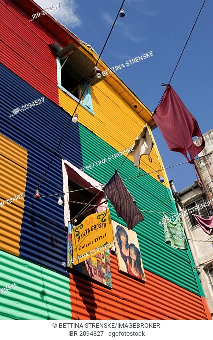 Typical colourful house in the La Boca neighbourhood, Buenos Aires, Argentina, South America
