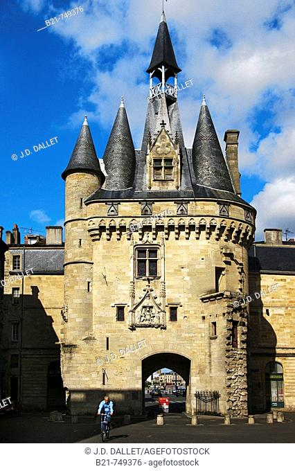 France. Gironde. Bordeaux.  'Porte Cailhau', former city door,