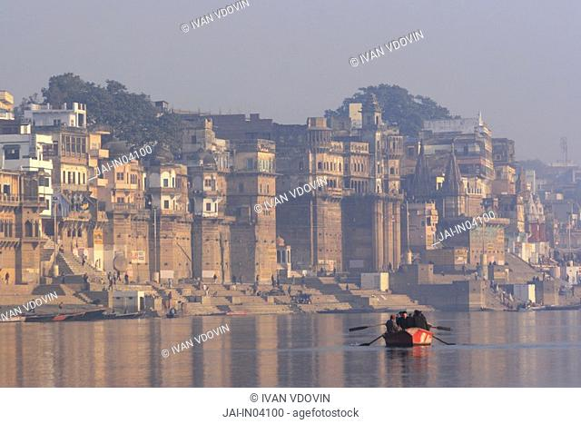 Ganges Ganga, Varanasi Benares, Uttar Pradesh, India