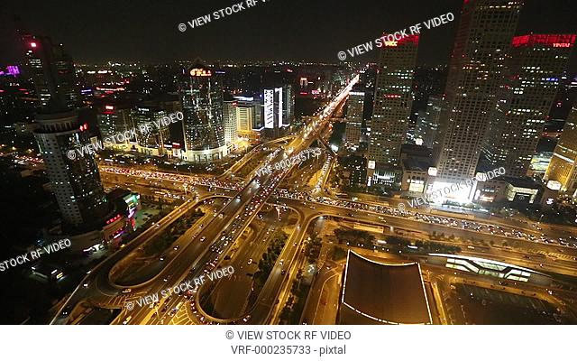 video of beijing at night